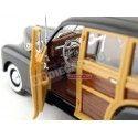 1948 Chevrolet Fleetmaster Negro-Madera 1:18 Welly 19848 Cochesdemetal.es