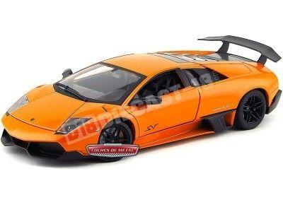 2013 Lamborghini Murcielago LP670-4 SV Naranja 1:18 MZ Models 2052 Cochesdemetal.es
