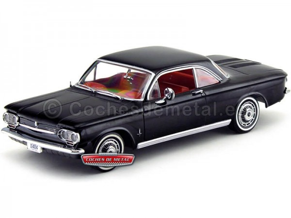 1963 Chevrolet Corvair Coupe Tuxedo Black 1:18 Sun Star 1484 Cochesdemetal.es