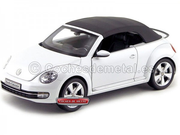 2011 Volkswagen The Beetle Convertible Pearl White 1:18 Kyosho 08812PW
