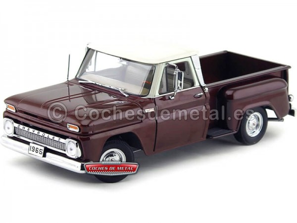 1965 Chevrolet Pick-Up C-10 Stepside Maroon Irid 1:18 Sun Star 1391 Cochesdemetal.es