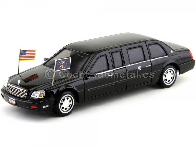 2001 Cadillac Deville Presidential Limousine Negro 1:24 Lucky Diecast 24018 Cochesdemetal.es