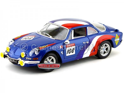 1971 Renault Alpine A110 1600S Rally Azul 1:18 Bburago 12033 Cochesdemetal.es