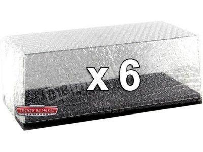 Lote 6 Urnas Vitrinas Expositoras para tus modelos 1:18 Triple-9 18000 Cochesdemetal.es