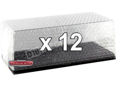 Lote 12 Urnas Vitrinas Expositoras para tus modelos 1:18 Triple-9 18000 Cochesdemetal.es