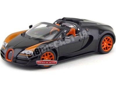 2014 Bugatti Veyron 16.4 Grand Sport Vitesse Negro 1:18 Rastar 43900 Cochesdemetal.es