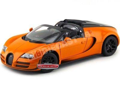 2014 Bugatti Veyron 16.4 Grand Sport Vitesse Naranja 1:18 Rastar 43900 Cochesdemetal.es
