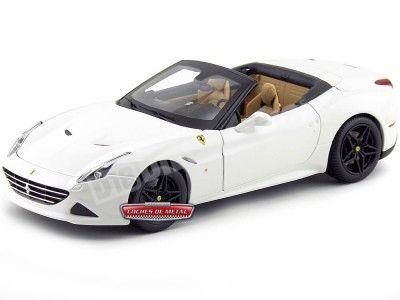 2014 Ferrari California T Open Top Blanco 1:18 Bburago 16904 Cochesdemetal.es