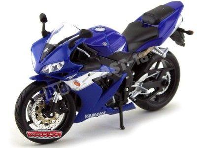 2004 Yamaha YZF R1 Azul 1:12 Maisto 31102 YA02 Cochesdemetal.es