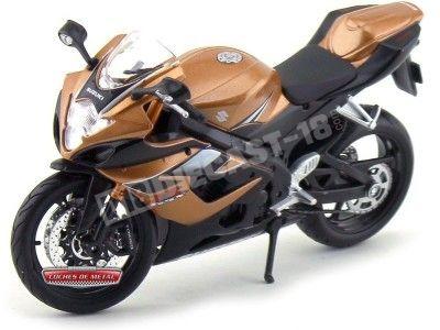 2004 Suzuki GSX-R 1000 Negra-Naranja 1:12 Maisto 31106 SU02 Cochesdemetal.es