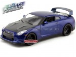 """2012 Nissan GT-R R35 """"Fast and Furious VII"""" Blue 1:18 Jada Toys 97035"""