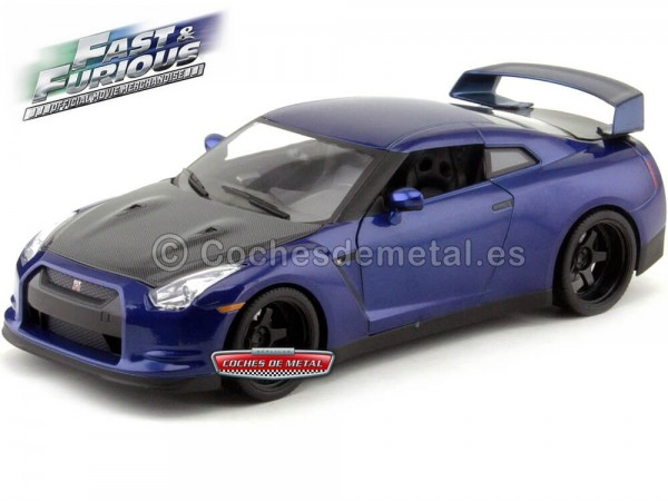 "2012 Nissan GT-R R35 ""Fast and Furious VII"" Blue 1:18 Jada Toys 97035"