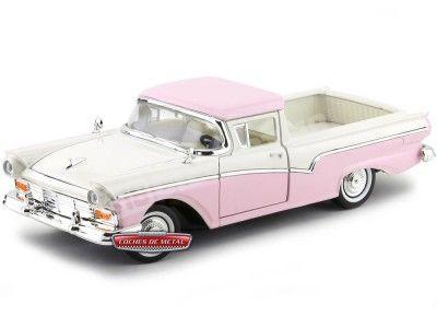 1957 Ford Ranchero Rosa-Beige 1:18 Lucky Diecast 92208 Cochesdemetal.es