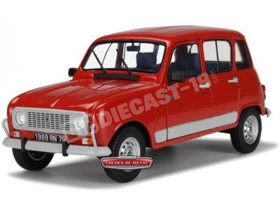 1988 Renault R4 4L GTL Clan Metallic Red 1:18 Solido S1800102 Cochesdemetal.es