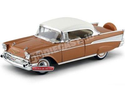 1957 Chevrolet Bel Air Hard Top Golden Brown 1:18 Lucky Diecast 92109 Cochesdemetal.es