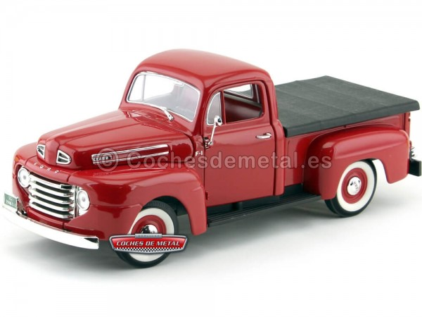 1948 Ford F-1 Pick Up Rojo 1:18 Lucky Diecast 92218 Cochesdemetal.es