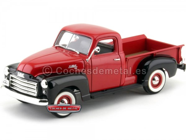 1950 GMC 150 Pick-Up Rojo 1:18 Lucky Diecast 92648 Cochesdemetal.es