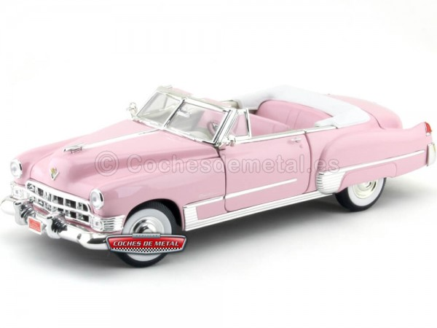 1949 Cadillac Coupe De Ville Convertible Rosa 1:18 Lucky Diecast 92308 Cochesdemetal.es