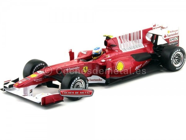 "2010 Ferrari F10 Fernando Alonso ""Bahrain GP Edition"" 1:18 Hot Wheels T6287"