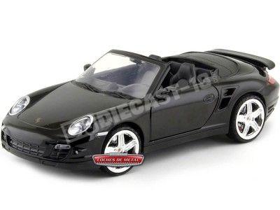2008 Porsche 911 Turbo Cabriolet Negro Metalizado 1:18 Motor Max 73183BK Cochesdemetal.es
