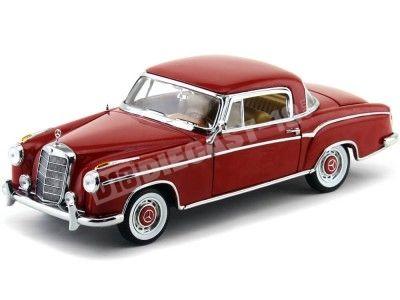 1958 Mercedes-Benz 220SE Coupe W128 Rojo 1:18 Sun Star 3563 Cochesdemetal.es