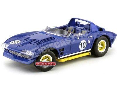 1964 Chevrolet Corvette Grand Sport Roadster Blue 1:18 Lucky Diecast 92697 Cochesdemetal.es