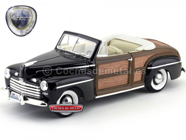 1946 Ford Sportsman Convertible Super Deluxe Black-Woody 1:18 Lucky Diecast 20048 Cochesdemetal.es