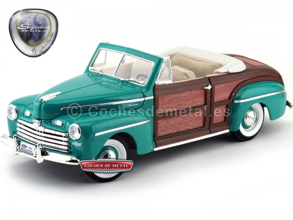 1946 Ford Sportsman Convertible Super Deluxe Green-Woody 1:18 Lucky Diecast 20048 Cochesdemetal.es
