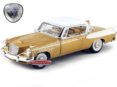 1958 Studebaker Golden Hawk Gold-White 1:18 Lucky Diecast 20018GL Cochesdemetal.es