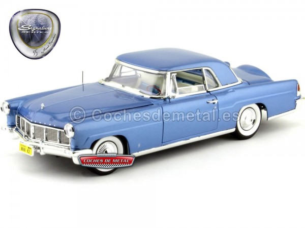 1956 Lincoln Continental Mark II Blue 1:18 Lucky Diecast 20078 Cochesdemetal.es