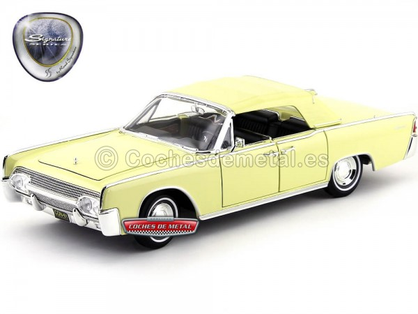 1961 Lincoln Continental Yellow 1:18 Lucky Diecast 20088 Cochesdemetal.es