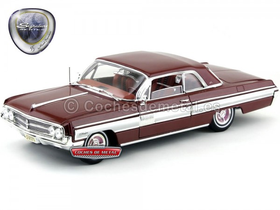 1962 Oldsmobile Starfire Burgundy 1:18 Lucky Diecast 20208 Cochesdemetal.es