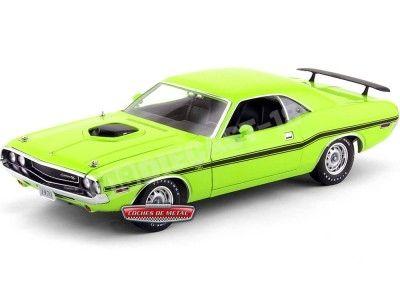 1970 Dodge Challenger 426 Hemi Shaker Sublime Green 1:18 Greenlight 12931 Cochesdemetal.es