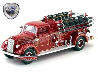 1938 Mack Type 75 Camión de Bomberos Rojo 1:24 Lucky Diecast 20158 Cochesdemetal.es