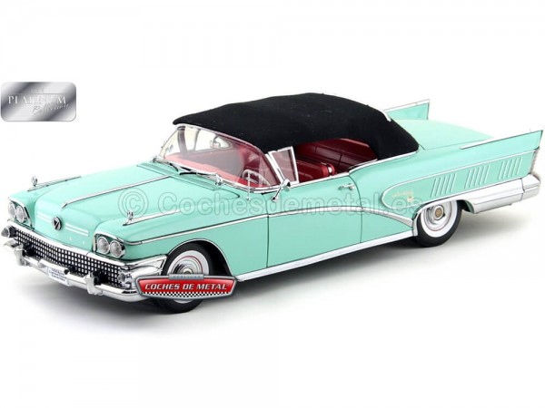 1958 Buick Limited Open Convertible Green 1:18 Mist Sun Star 4813 Cochesdemetal.es