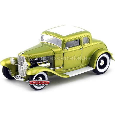 1932 Ford Five Window Deluxe Coupe Hot Rod Verde 1:18 ACME GMP A1805006 Cochesdemetal.es