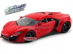 "2014 Lykan HyperSport ""Fast and Furious VII"" Glossy Red 1:18 Jada Toys 97388"