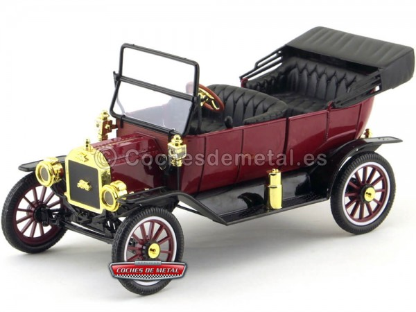 1915 Ford Model T Roadster Convertible Rojo Carruajes 1:18 Motor City 88141 Cochesdemetal.es