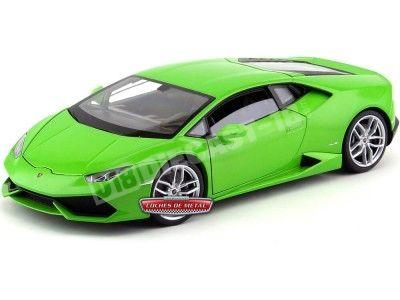 2014 Lamborghini Huracán LP610-4 Verde 1:18 Welly 18049 Cochesdemetal.es