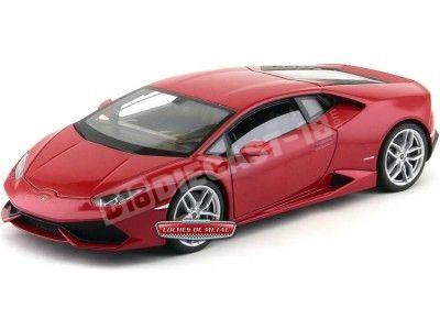 2014 Lamborghini Huracán LP610-4 Rojo 1:18 Welly 18049 Cochesdemetal.es