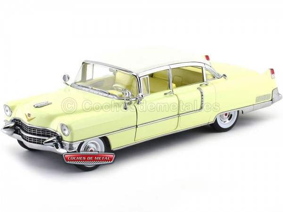 1955 Cadillac Fleetwood Series 60 Special Amarillo 1:18 Greenlight 12937 Cochesdemetal.es