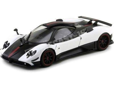 2008 Pagani Zonda Cinque Blanco-Negro 1:18 Motor Max 79158 Cochesdemetal.es