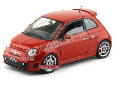 2011 Fiat Abarth Rojo Metalizado 1:18 Motor Max 79168 Cochesdemetal.es