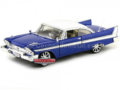 1958 Plymouth Fury Custom Hot Rod Azul 1:18 Motor Max 79011 Cochesdemetal.es