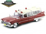 1959 Cadillac Ambulance Red and White 1:18 GreenLight Precision Collection PC18001