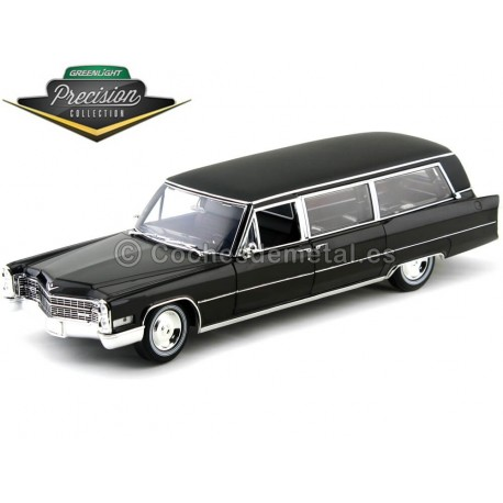 1966 Cadillac S-S Funebre Black 1:18 GreenLight Precision Collection PC18002 Cochesdemetal.es