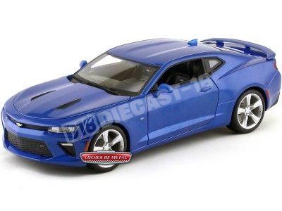 2016 Chevrolet Camaro SS Azul 1:18 Maisto 31689 Cochesdemetal.es