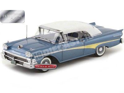 1958 Ford Fairlane 500 Closed Convertible Azul/Blanco Sun Star 5282