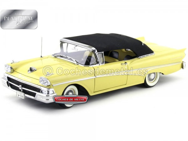 1958 Ford Fairlane 500 Closed Convertible Sun Gold 1:18 Sun Star 5281 Cochesdemetal.es