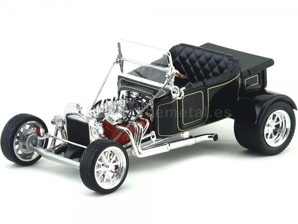 1923 Ford Model T Bucket Negro Metalizado 1:18 Road Signature 92828 Cochesdemetal.es